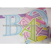 Banderin Carton letras BABY SHOWER x1*