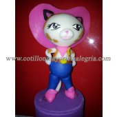 Adorno Porcelana Cars Minnie Mickey HA kITTY